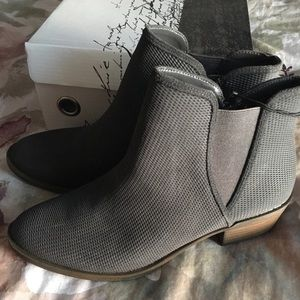 NIB GREY ANKLE BOOTIES SIZE 8.5